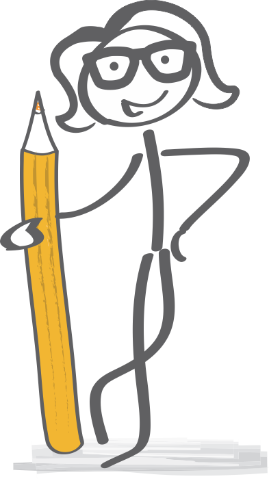 girl with pencil for banner