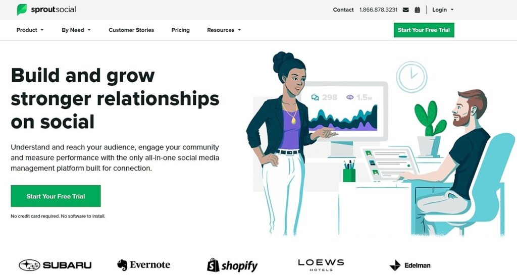 Sprout Social homepage screenshot